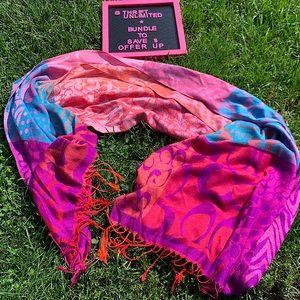 COACH multicolour monogram scarf/pashmina like new
